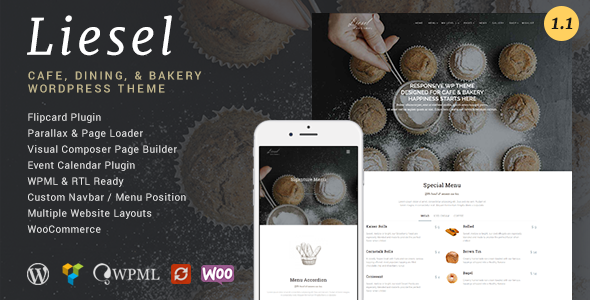 Liesel – Cafe, Dining and Bakery WordPress Theme