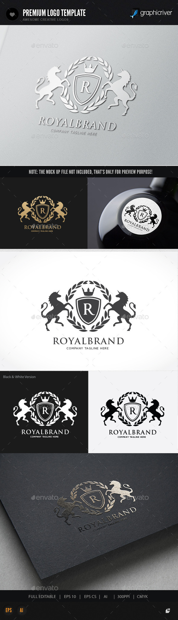Royal Brand  - Crests Logo Templates