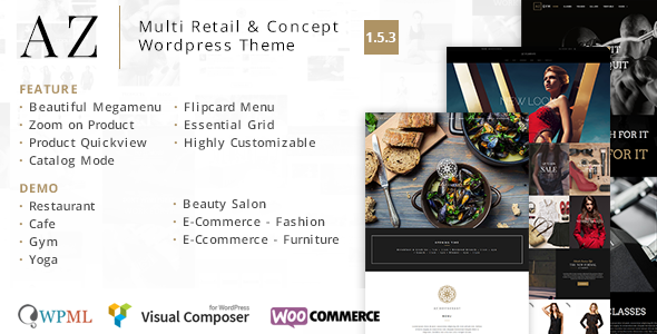AZ – Multi Retail & Concept WordPress Theme