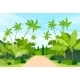 Jungle Forest Green Landscape With Road Path - GraphicRiver Item for Sale