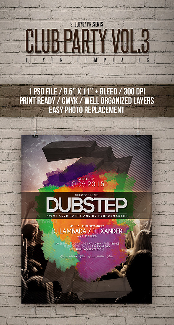 Club Party Flyer Templates Vol 3 - Clubs & Parties Events