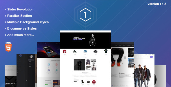 One – Multi-Purpose Parallax HTML5 Template