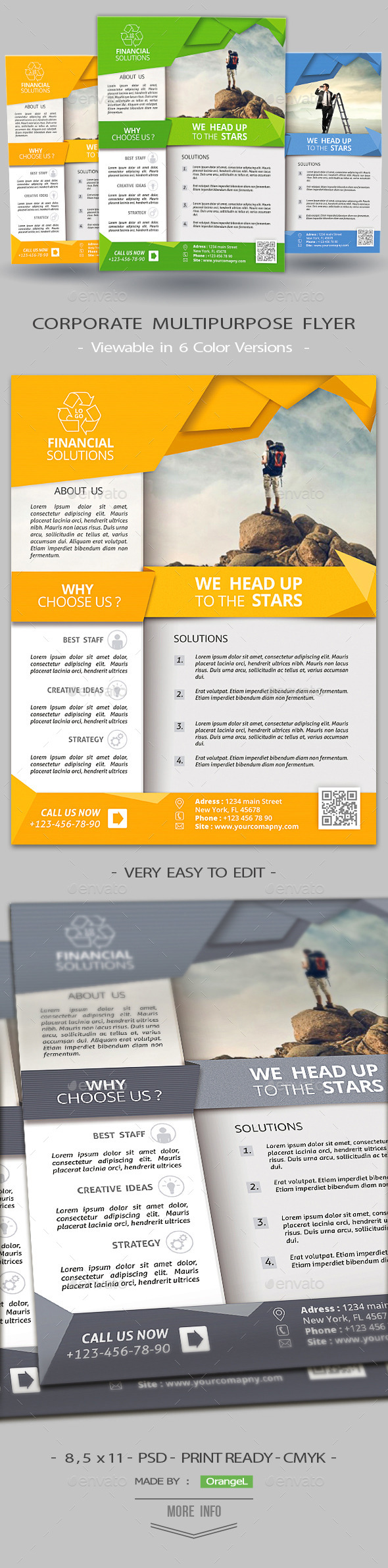 Clean Corporate Multiuse Flyer - Corporate Flyers
