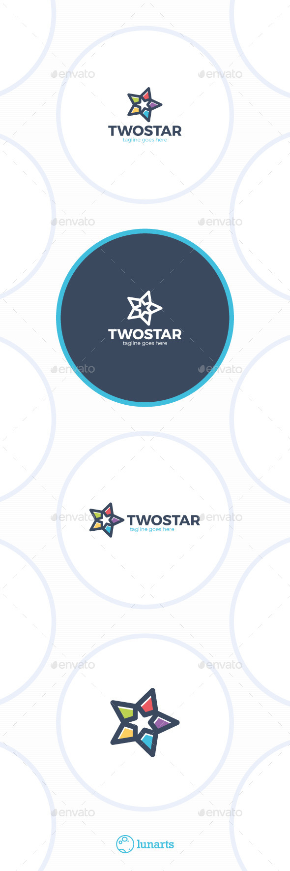 Two Stars Logo - Abstract Logo Templates