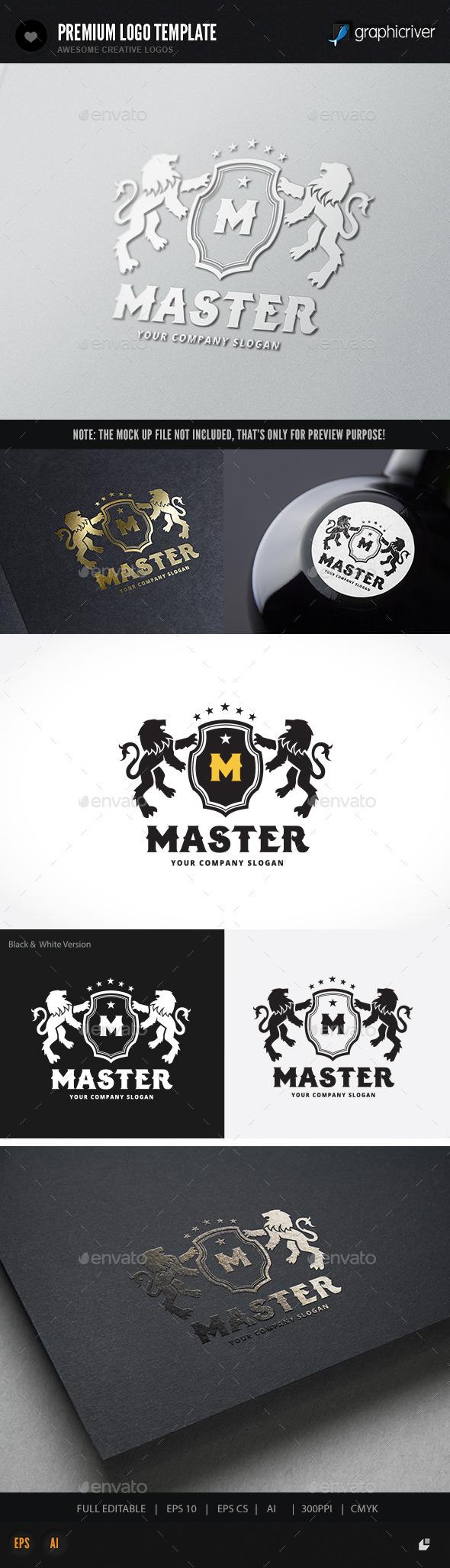 Lion Master - Crests Logo Templates