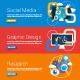 Flat Design Concept for Social Media - GraphicRiver Item for Sale