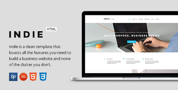 Indie – Responsive Business HTML5 Template