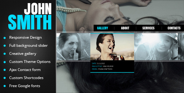 John Smith – AJAX Portfolio WP Theme