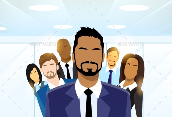 Business People Group Leader Diverse Team - People Characters