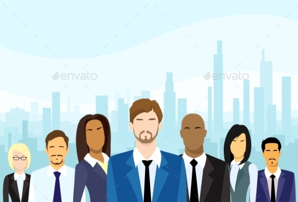 Business People Group Diverse Team Vector - People Characters