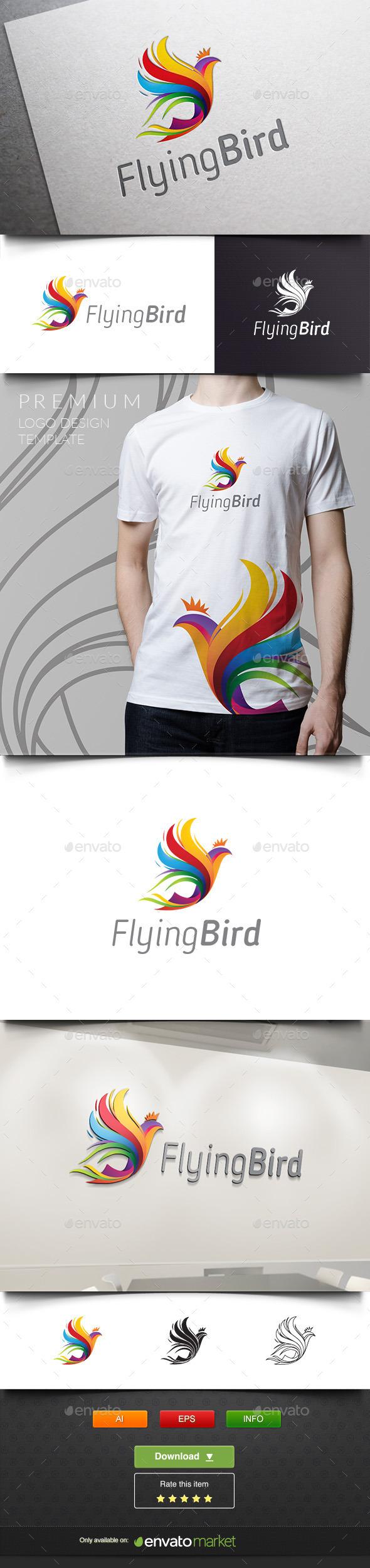 Flying Bird - Phoenix - Animals Logo Templates