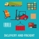 Delivery And Freight Flat Infographic