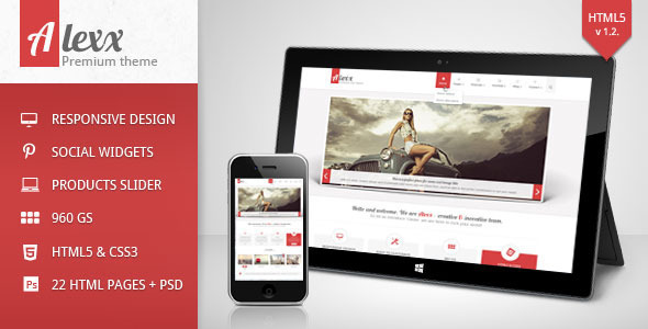 Alexx – Multipurpose HTML5 Theme