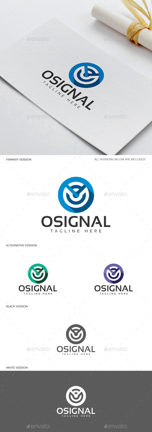 Osignal Logo - Objects Logo Templates