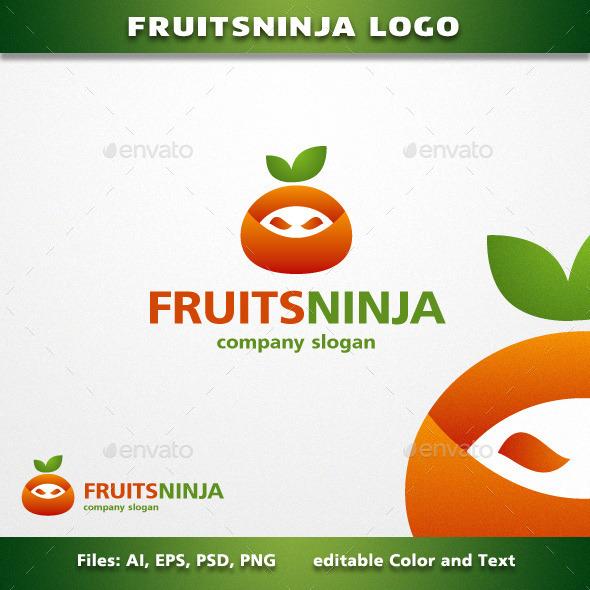 FruitsNinja Logo - Symbols Logo Templates