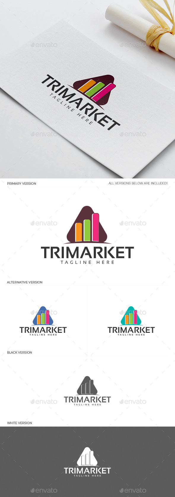 Trimarket Logo - Objects Logo Templates