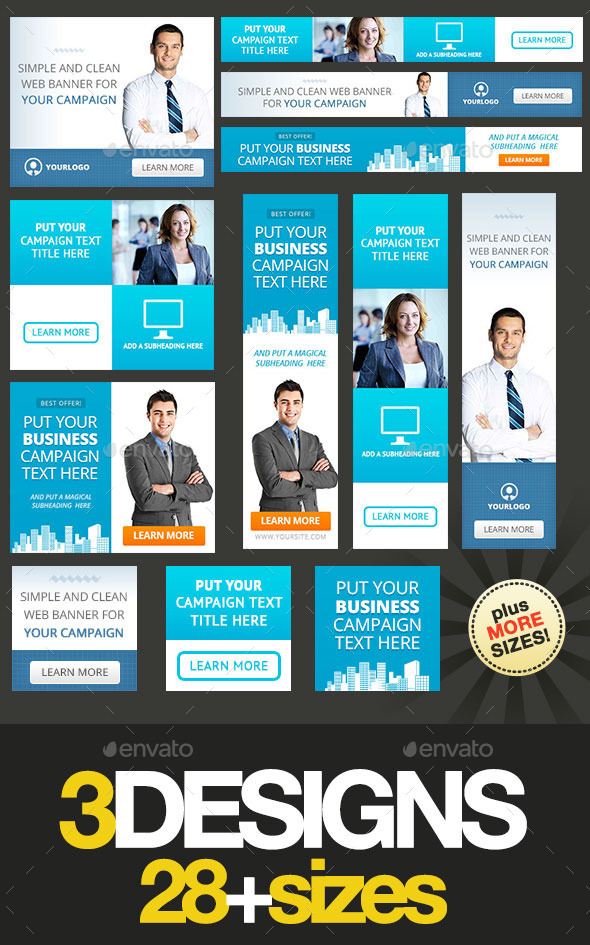 Corporate Web Banner Set Bundle 15 - Banners & Ads Web Elements