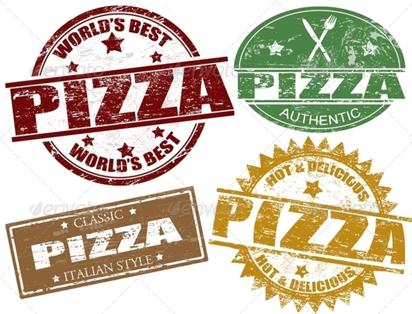 Pizza Stamps - Food Objects