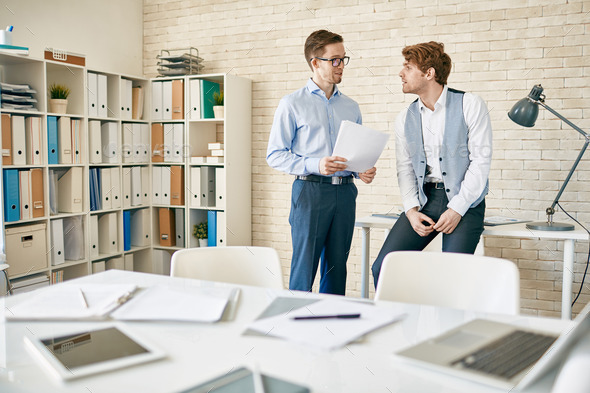 Discussing plans - Stock Photo - Images