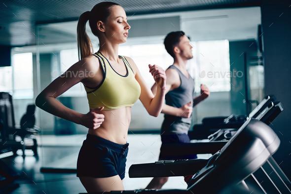 Girl running - Stock Photo - Images