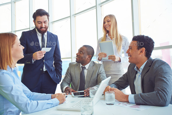 Business people at meeting - Stock Photo - Images