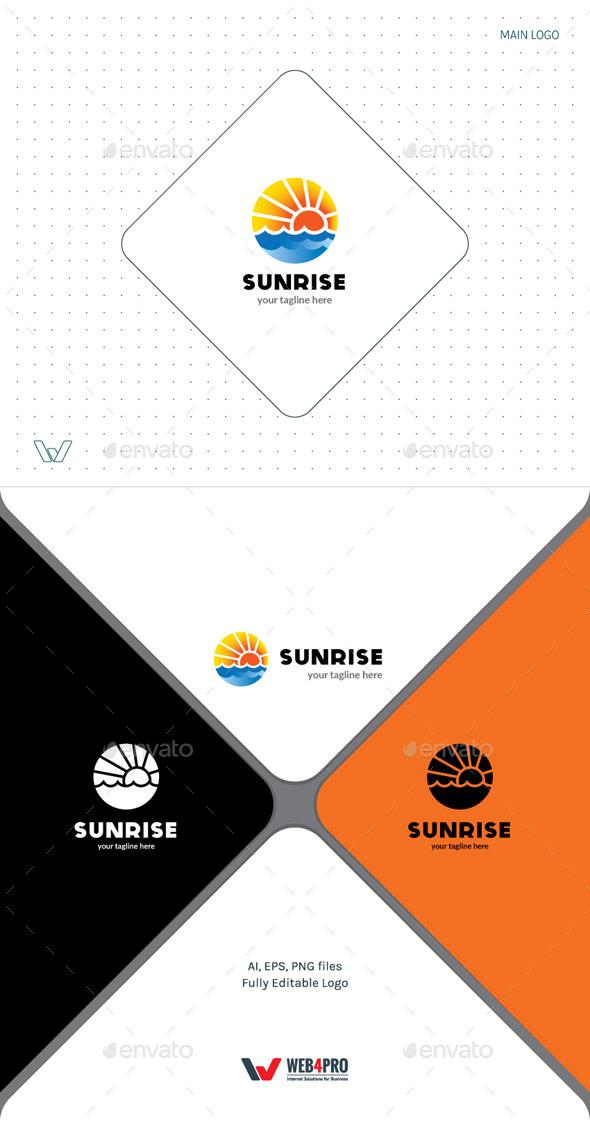 Sunrise Logo - Nature Logo Templates