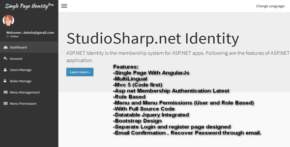 MVC Membership Pro - User Authentication tool (AngularJs Single Page) - CodeCanyon Item for Sale
