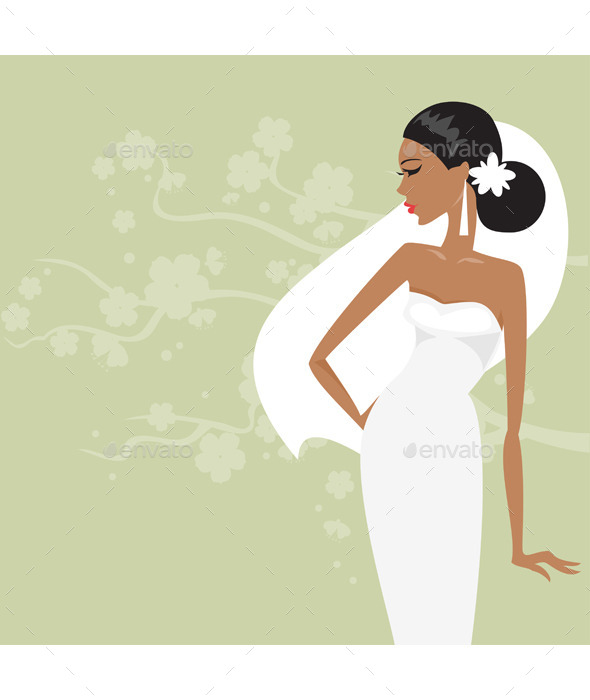 Bride in a White Dress - People Characters