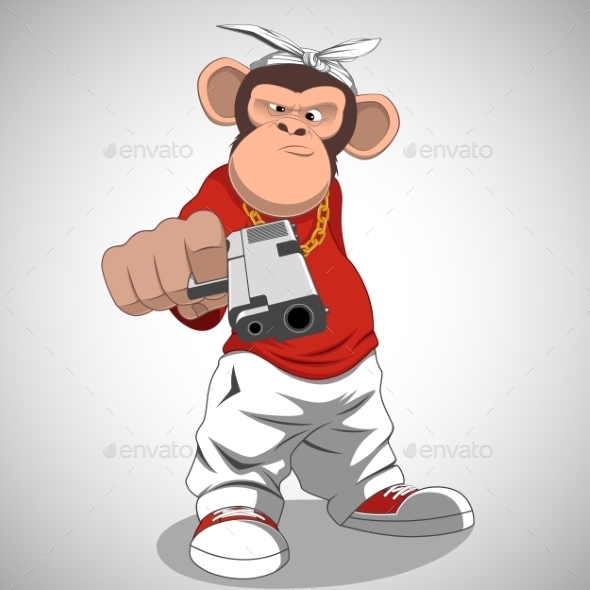 Monkey with a Gun - Animals Characters