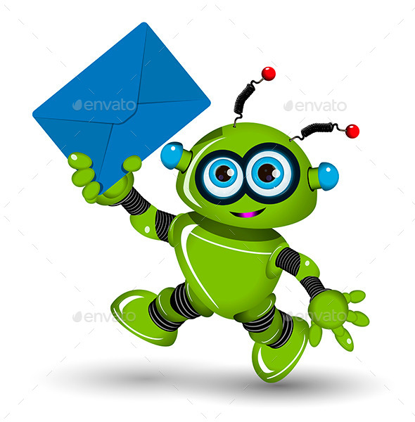 Robot with Envelope - Miscellaneous Characters