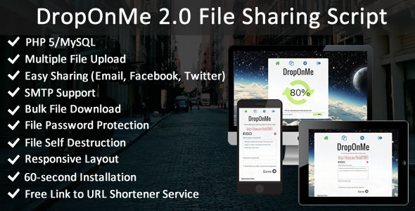 DropOnMe - File Sharing PHP Script - CodeCanyon Item for Sale