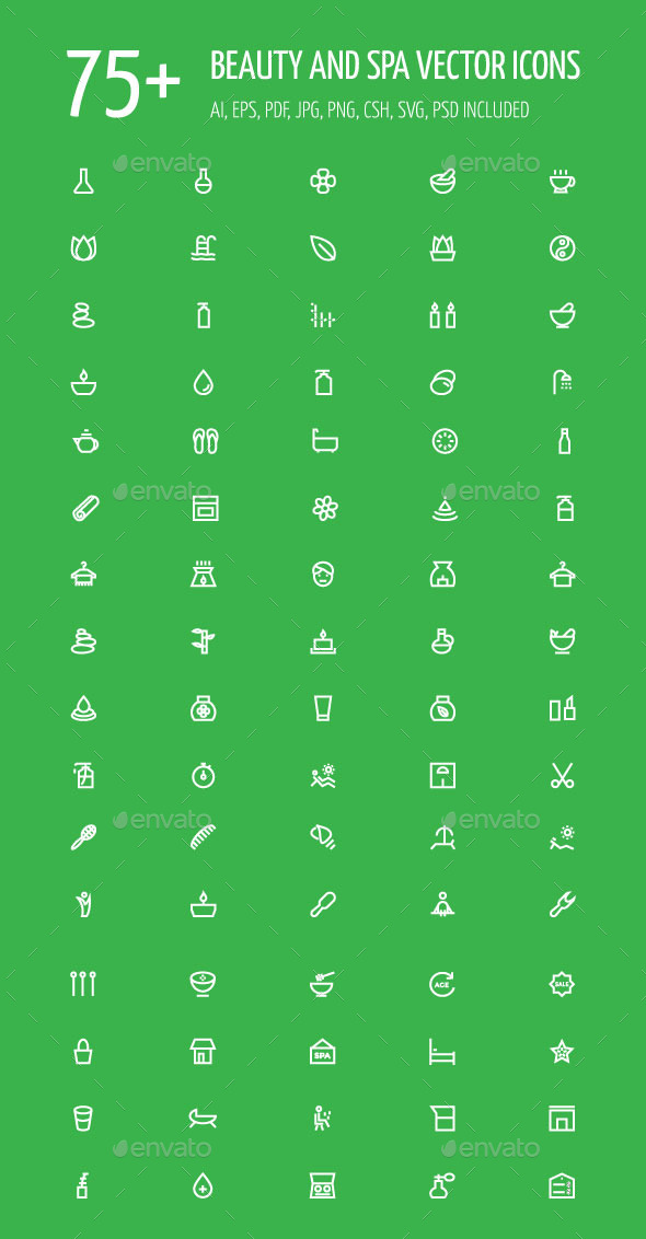 75+ Beauty and Spa Vector Icons - Icons