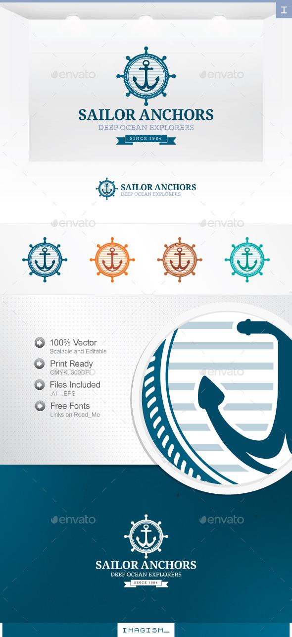 Sailor Anchor Logo - Symbols Logo Templates