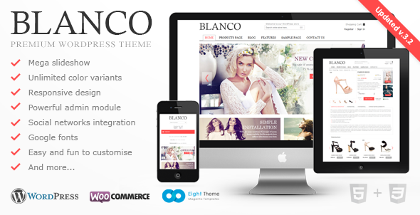 Blanco – Responsive WordPress Woo/E-Commerce Theme
