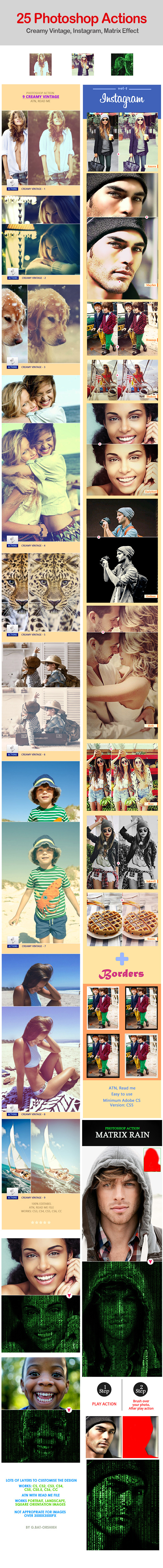 25 Photoshop Actions - Photo Effects Actions