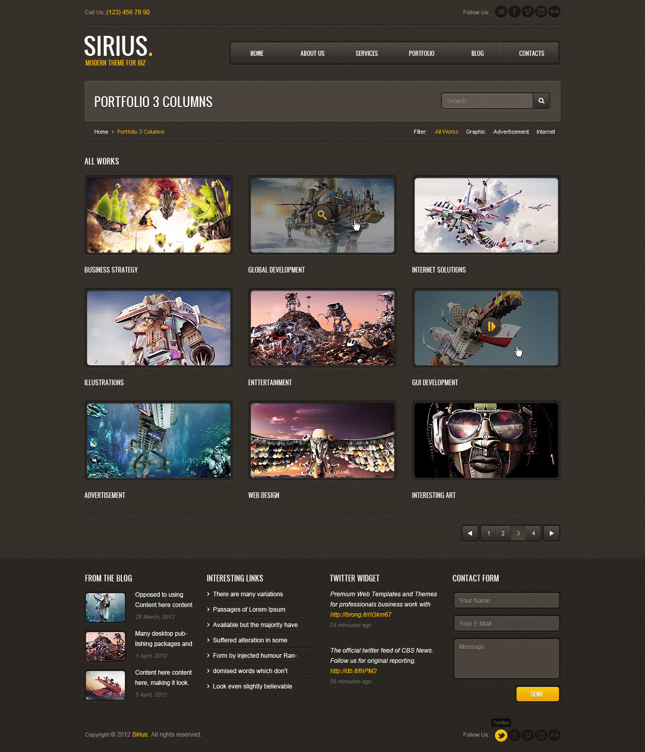 Sirius - Responsive HTML Template, SASS by Artureanec | ThemeForest