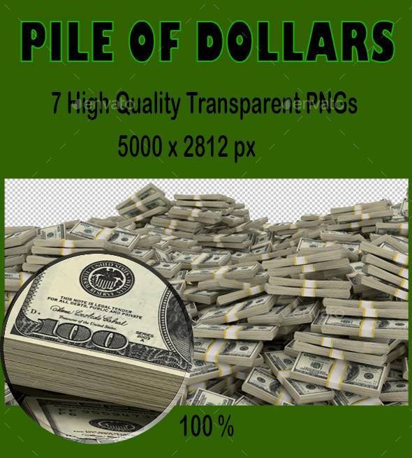 Money Pile - Objects 3D Renders