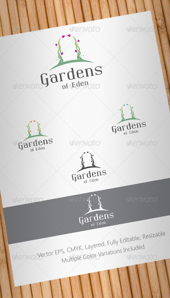 Gardens of Eden Logo Template - Nature Logo Templates