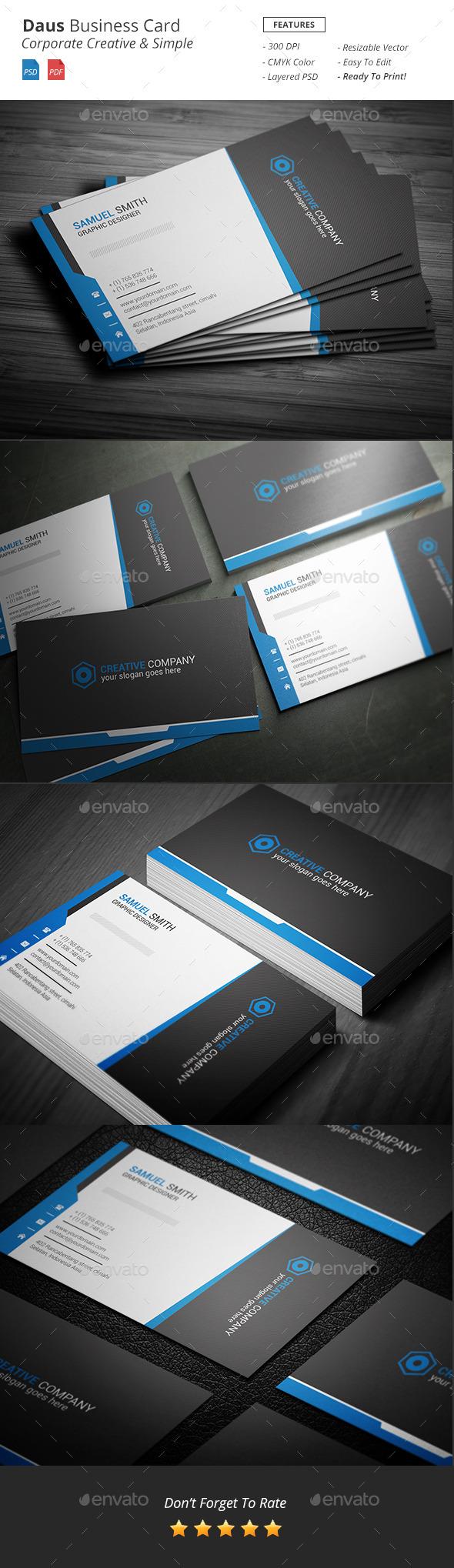 Daus - Corporate Business Card - Corporate Business Cards