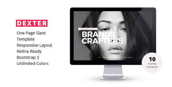 DEXTER-Creative Multipurpose One Page Template - Portfolio Creative
