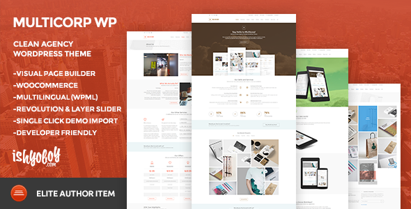 Multicorp WP – Clean Agency WordPress Theme
