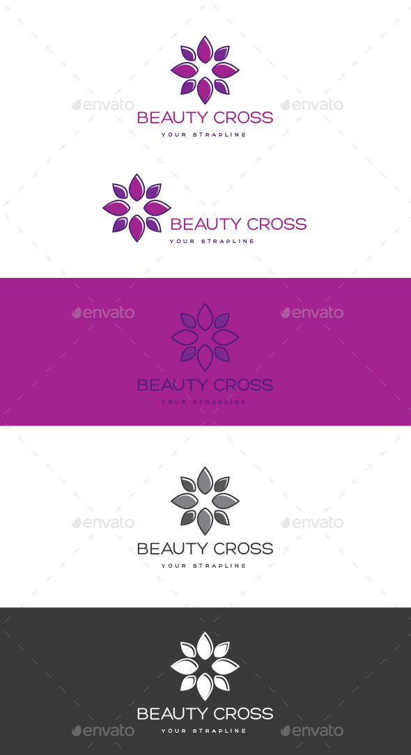 Beauty Cross Logo - Nature Logo Templates