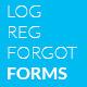 Login Register Forms - GraphicRiver Item for Sale