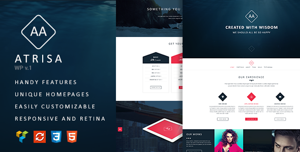 Atrisa - One Page / Multi-Purpose WordPress Theme