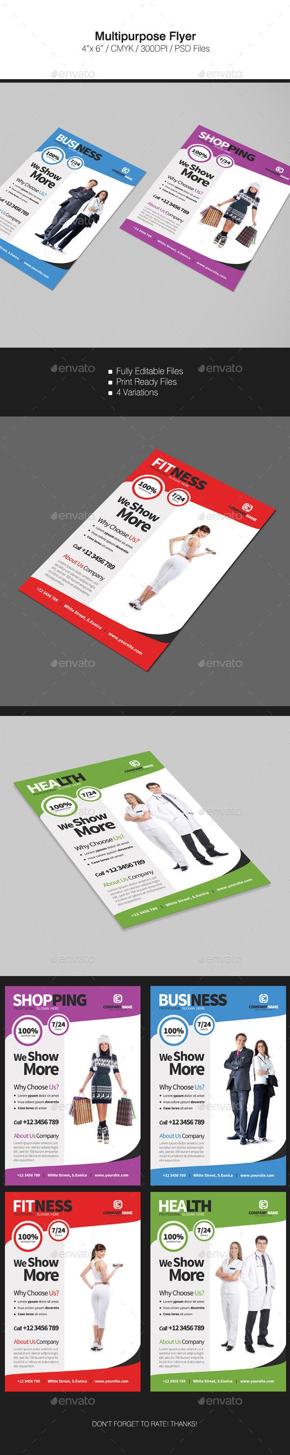 Multipurpose Flyer - Flyers Print Templates