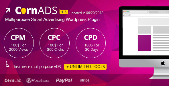 CornADS 1.5.2 - Multipurpose Smart Advertising Wordpress Plugin - CodeCanyon Item for Sale