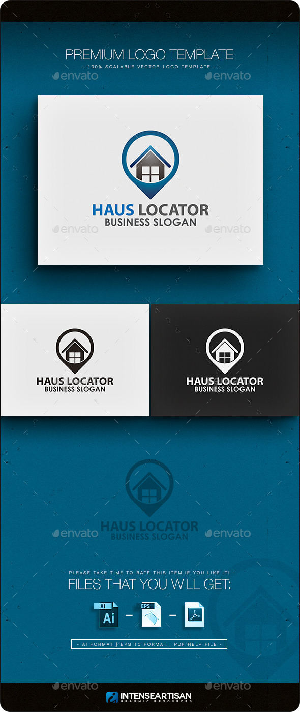 Haus Locator Logo Template - Buildings Logo Templates
