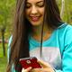 Girl Messaging on Smart Phone