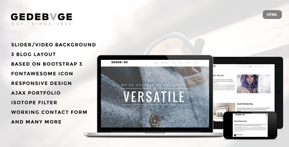 Gedebvge – Responsive One Page Portfolio Template