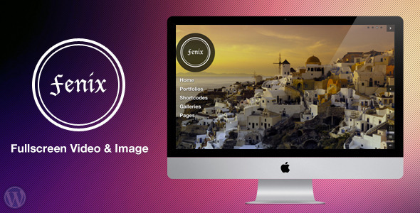 Fenix – Fullscreen Video & Image Background